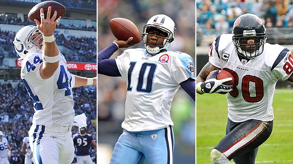 Dallas Clark, Vince Young and Andre Johnson