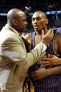 Ron Artest and Chuck Person