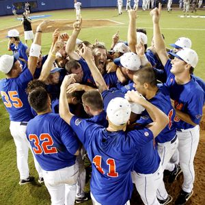Florida Gators baseball team celebrates win