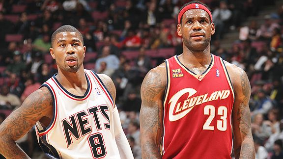 Terrence Williams and LeBron James