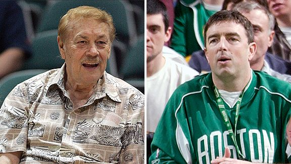 Jerry Buss and Wyc Grousbeck