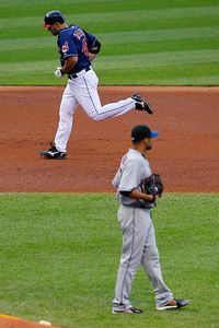 Travis Hafner and Johan Santana
