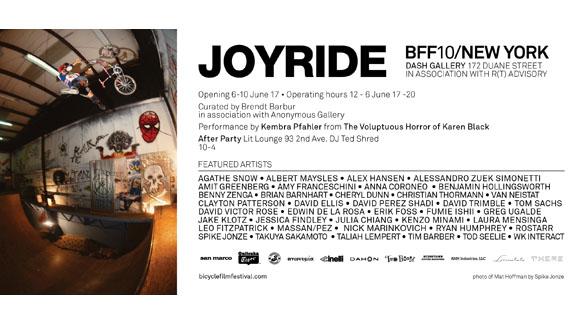 Joyride: The Bicycle Film Fest art show