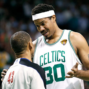 Rasheed Wallace and Danny Crawford