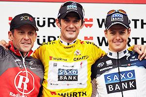 Lance Armstrong, Franck Schleck,  Jacob Fuglsan