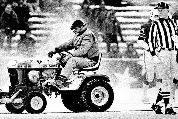 Snow Plow Dolphins Patriots game 1982