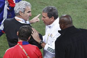 Raymond Domenech and Carlos Alberto