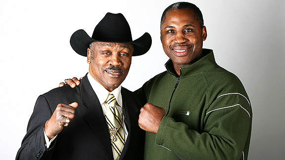 Joe Frazier and Marvis Frazier