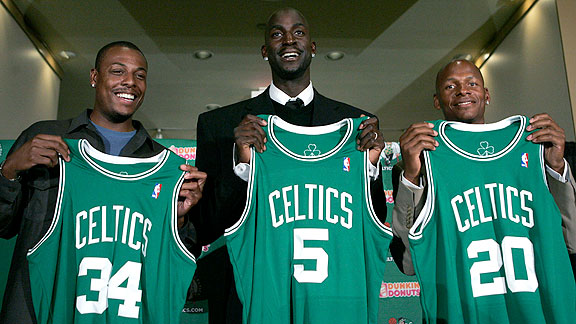 Ray Allen Kevin Garnett Paul Pierce