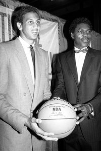 Sam Bowie and Hakeem Olajuwon