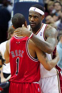 LeBron James and Derrick Rose