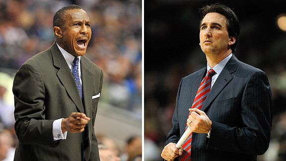 Vinny Del Negro and Dwane Casey