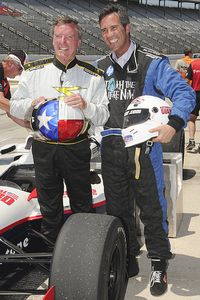 Randy Bernard and Johnny Rutherford