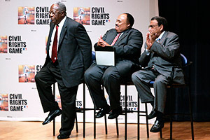 Hank Aaron and Martin Luther King III and Andrew Young
