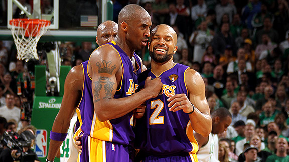 Kobe Bryant and Derek Fisher
