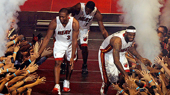 Dwyane Wade and Chris Bosh and LeBron James