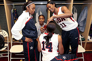 Renee Montgomery and Maya Moore and Swin Cash