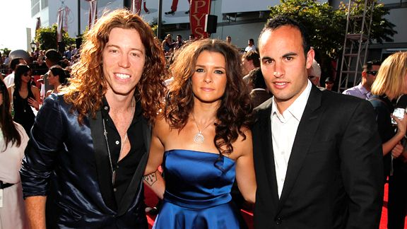 Shaun White, Danica Patrick, and Landon Donovan