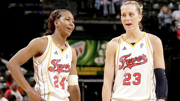 Tamika Catchings and Katie Douglas