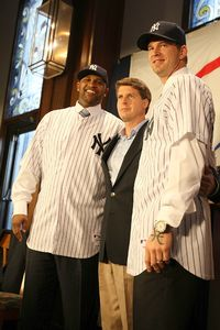 CC Sabathia and Hal Steinbrenner, and AJ Burnett