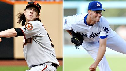 Icon SMI The Opening Day Showdown Lincecum Versus Kershaw