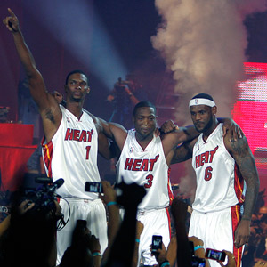 Chris Bosh, Dwayne Wade and LeBron James