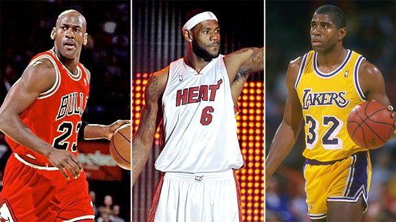 Michael Jordan, LeBron Jordan, Magic Johnson
