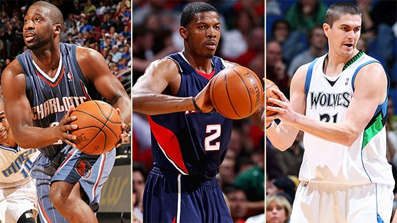 Raymond Felton, Joe Johnson, Darko Milicic