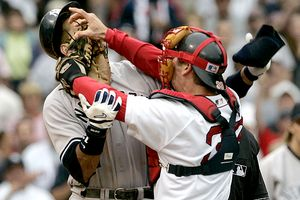 Jason Varitek and Alex Rodriguez