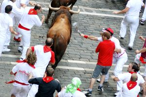 Rick Reilly in Pamplona, running with the bulls