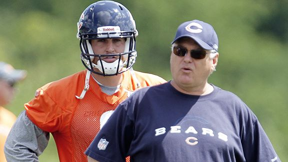 Jay Cutler and Mike Martz