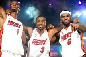 Dwyane Wade, LeBron James, and Chris Bosh