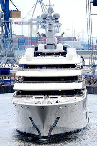he luxury yacht 'Eclipse' of Russian billionaire Roman Abramovich