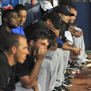 The Mets in the dugout couldn't bear to watch their series finale in Atlanta.
