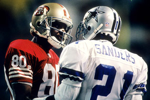 Jerry Rice, Deion Sanders