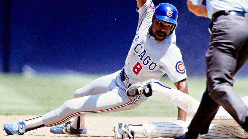 He averaged 27 home runs and 98 RBI and was the MVP in his first season  with the Cubs in 1987. (US Presswire) 969f73703