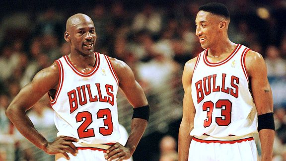 Michael Jordan and Scottie Pippen