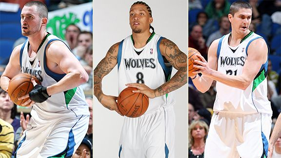 Kevin Love, Michael Beasley, Darko Milicic