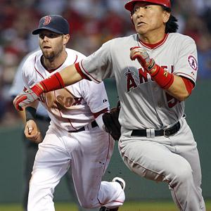 Dustin Pedroia & Hideki Matsui