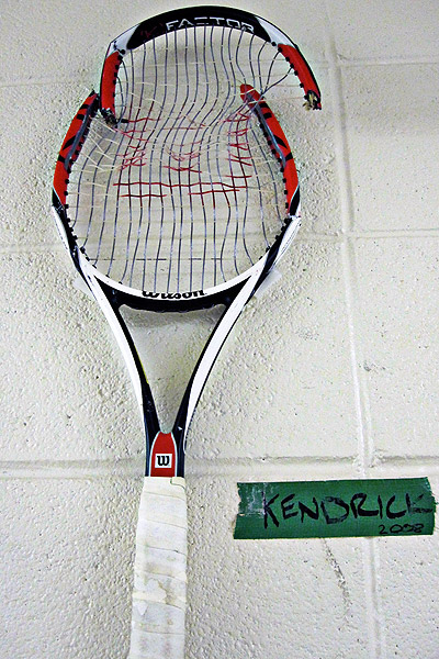 Kendrick broken racket