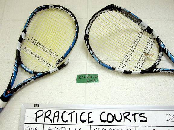 Andy Roddick broken racket