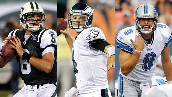 Mark Sanchez, Kevin Kolb, Matthew Stafford