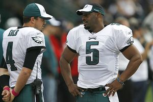 Donovan McNabb and Kevin Kolb