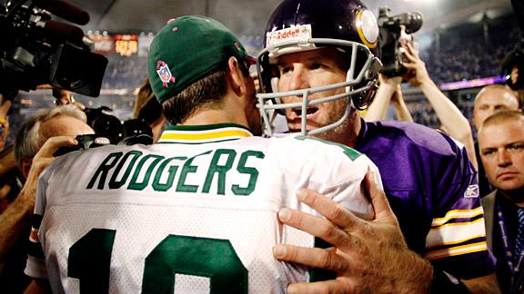 Brett Favre & Aaron Rodgers