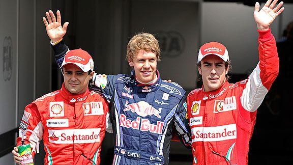 Felipe Massa, Sebastian Vettel & Fernando Alonso