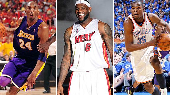 Kobe Bryant/LeBron James/Kevin Durant
