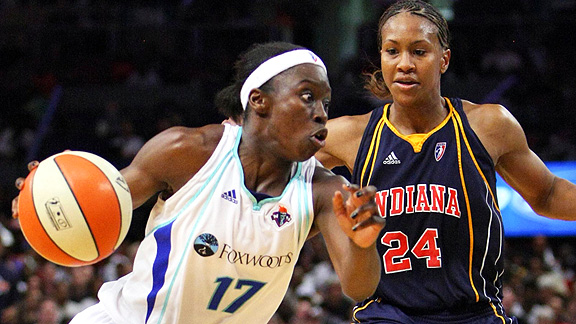 Essence Carson and Tamika Catchings