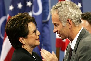 Billie Jean King and John McEnroe