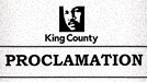 King County Proclamation