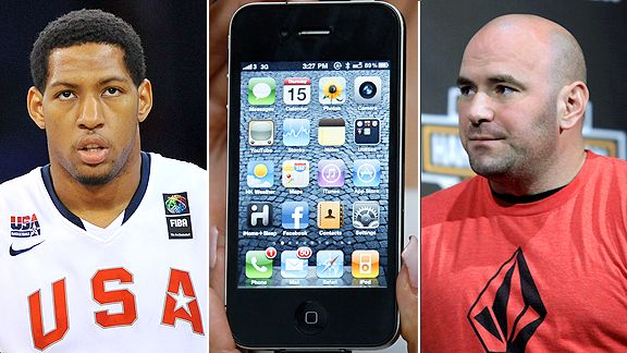 Dana White, iPhone and Danny Granger